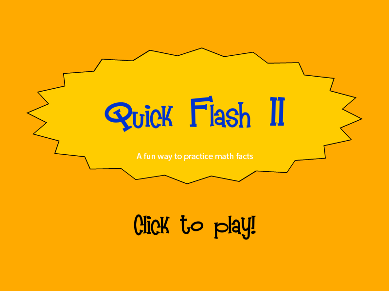 Quick Flash Cards II - Free Online Flash Cards | Multiplication.com