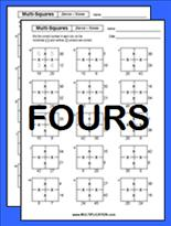 math worksheet : free multi square multiplication worksheets  multiplication  : Multiplication Square Worksheet