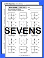 free multi square multiplication worksheets. Black Bedroom Furniture Sets. Home Design Ideas