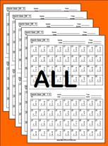 math worksheet : tests and quizzes  multiplication  : Multiplication Timed Test Worksheets