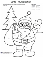 free christmas multiplication coloring worksheets. Black Bedroom Furniture Sets. Home Design Ideas