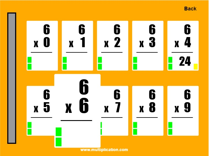 image about Multiplication Flash Cards Printable Front and Back named Effortless Flash Playing cards II - Absolutely free On the net Flash Playing cards