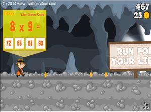 Cave Run Multiplication - Free Online Math Game ...