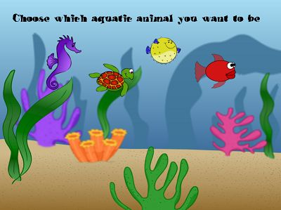 Choose a Sea Creature to Race with in Aquatic Speedway Addition | Multiplication.com