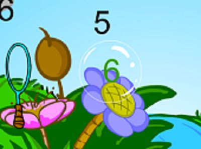 A Right Answer is Green in Bubble Bugs Addition | Multiplication.com