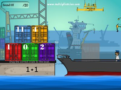 Solve Addition Problems in Cargo Security Addition | Multiplication.com