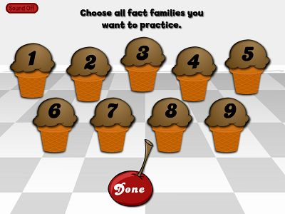 Choose a Fact Family for Flurry of Flavors Addition | Multiplication.com