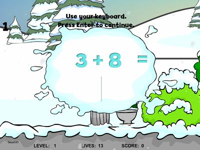 Solve Problems in Snowy's Friend Addition | Multiplication.com