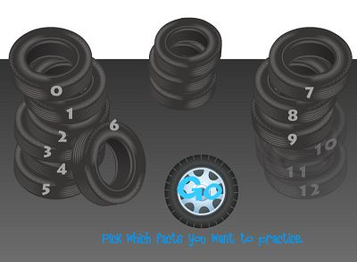 Choose a Fact for Tony's Tires Addition | Multiplication.com
