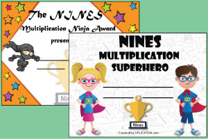 Multiplication Recognition Award Certificates