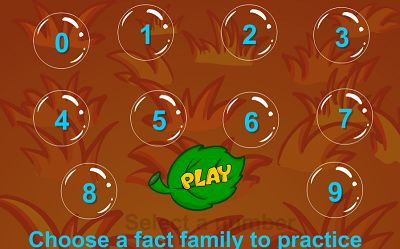 Choose a Fact for Bubble Bugs Addition | Multiplication.com