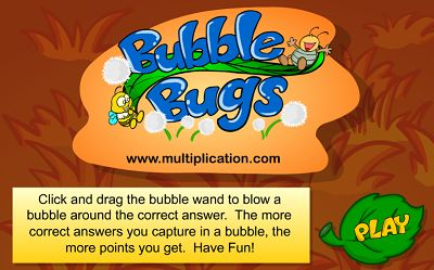 Welcome to Bubble Bugs Addition | Multiplication.com