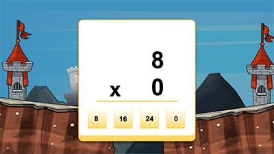 Answer equations in Cannon Ball Multiplication | Multiplication.com