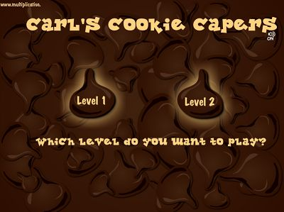 Select a Level in Carl's Cookie Capers | Multiplication.com