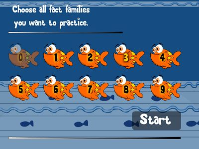 Choose Fact Families in Fish Shop Division | Multiplication.com