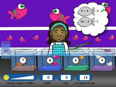Grab the Right Fish in Fish Shop Division | Multiplication.com