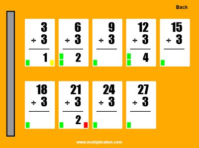 Practice Division Facts in Quick Flash II Division | Multiplication.com
