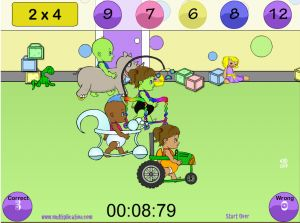 Answer the Facts in Diaper Derby Multiplication | Multiplication.com