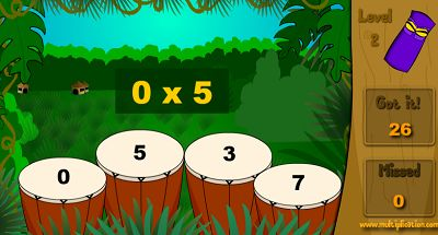 Play the Drums in Jungle Jim | Multiplication.com