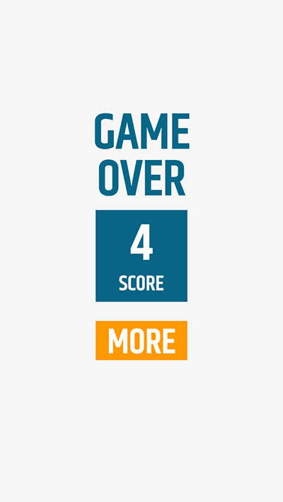 When the game is over hit the more button to play again in Kick Color Division | Multiplication.com