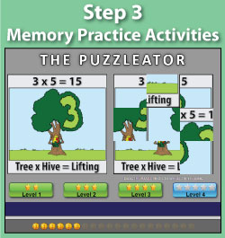 Memory Practice - Multiplication.com