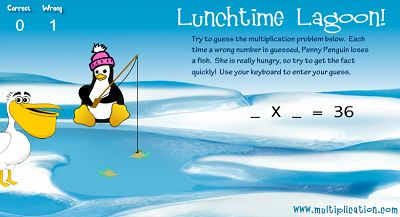Fill in the Multiplication Problem in Lunchtime Lagoon | Multiplication.com