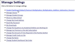 Settings  | Multiplication.com
