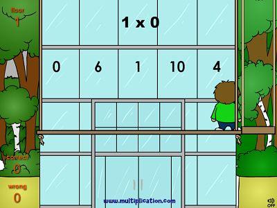 Math Wash Up - Free Online Math Game   Multiplication.com