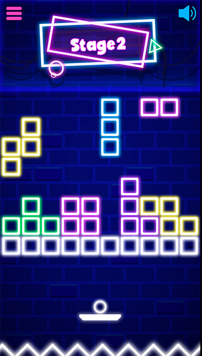 Click and hold the mouse or tap and hold with your finder in Neon Bricks Multiplication | Multiplication.com