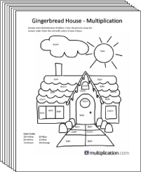 free secret puzzle christmas coloring multiplication worksheets multiplicationcom