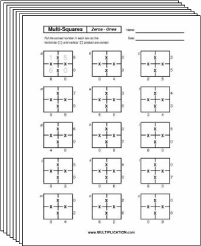 free multiplication worksheets  multiplicationcom free secret puzzle multisquare multiplication worksheets  multiplication com