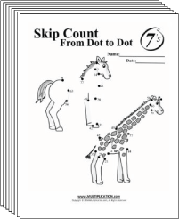 Free Secret puzzle Skip Counting multiplication worksheets - Multiplication.com