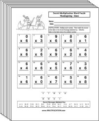 Free Secret puzzle More Thanksgiving multiplication worksheets - Multiplication.com