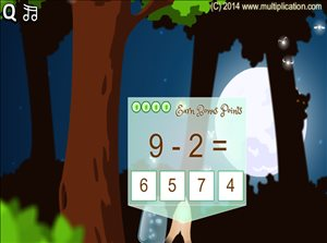 Solve Facts in Pixie Catcher Subtraction | Multiplication.com
