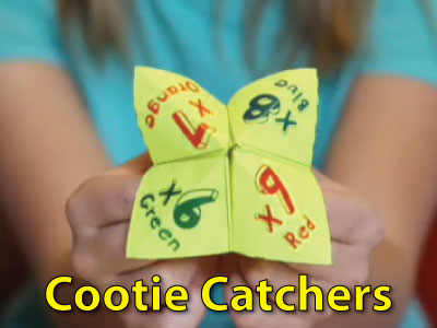 Practice with Multiplication Cootie Catchers