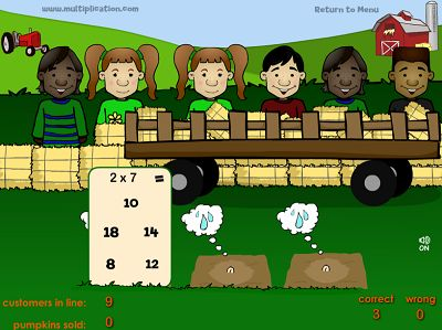 Water the Seeds in Farmer Fred's Pumpkin Patch | Multiplication.com