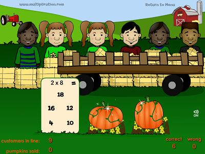 Pick the Pumpkins for the Kids in Farmer Fred's Pumpkin Patch | Multiplication.com