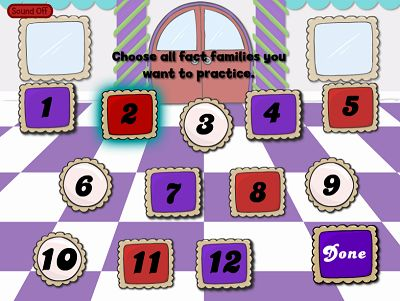 Choose a Fact Family in Reindeer Cafe Multiplication | Multiplication.com