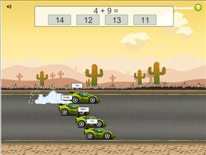 Solve the Facts for Speed in Road Rally Multiplayer Addition | Multiplication.com