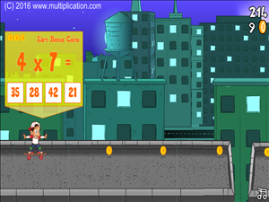 Answer the Facts in Rooftop Ride Multiplication | Multiplication.com