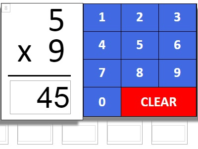 Multiplication Auto-Scoring Quizzes and Tests