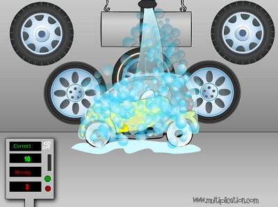 Make Those Cars Squeaky Clean in Car Wash Subtraction | Multiplication.com