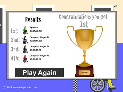 Win a Trophy in Granny Prix Multiplayer Subtraction | Multiplication.com