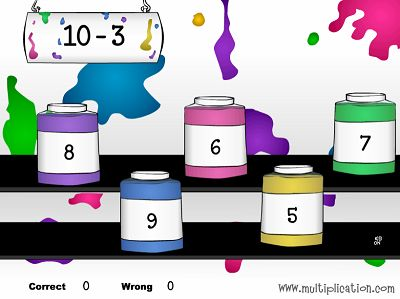 Solve Problems in Patty's Paints Subtraction | Multiplication.com