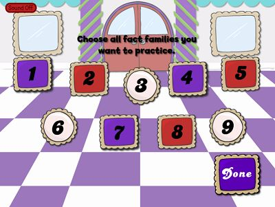 Choose Fact Families in Reindeer Cafe Subtraction | Multiplication.com