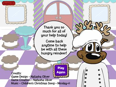 You Won Reindeer Cafe Subtraction | Multiplication.com