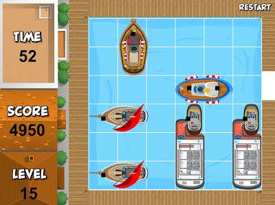 Get the Tugboat out of the Harbor to win in Ship Shuffle | Multiplication.com