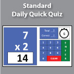 Standard Quick Quiz | Muliplication.com