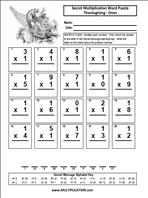 Free Thanksgiving Multiplication Worksheets | multiplication.com
