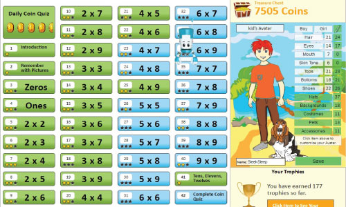 Use our Premium System to Teach Kids the Multiplication Facts